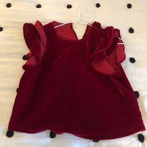 Zara velvet red top